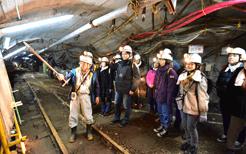 池島炭坑さるく坑内ツアー